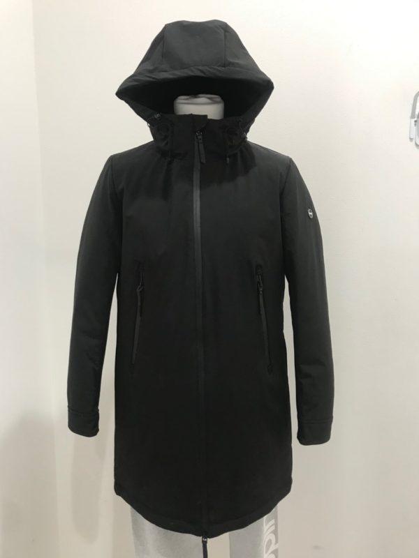 new product c9e57 00957 Piumino Uomo nero lungo con cappuccio - F**k